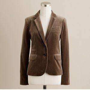 🍁 J. Crew Schoolboy velvet blazer